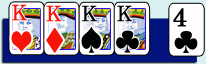 Fire ens (Four of a kind) i poker
